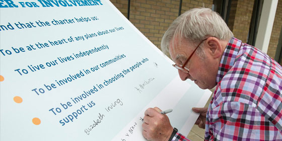 Signing up to Charter for Involvement