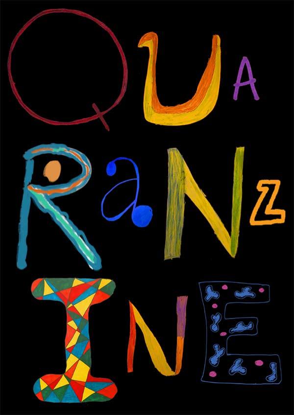 Quaranzine cover - in striking colour